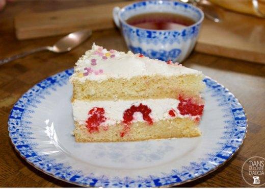 Tranche de gâteau à la crème au beurre