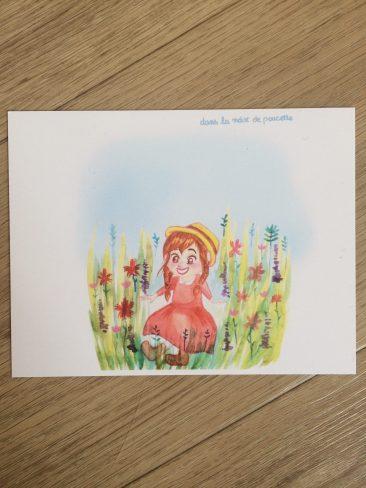 printemps 2021, carte illustrée dimensions 10,7 /13,9 cm, papier épais. Lors de ce début de printemps, j'ai été inspirée par des envies de fleurs et d'enfance, de simplicité et de nature. J'ai donc créé des illustrations à l'aquarelle que je vous propose en carte. J'espère qu'elles vous apporteront une bouffée d'air frais. J'ai eu envie de couleurs fraîches, rappelant Anne et la maison aux pignons verts, ou encore la petite maison dans la prairie.