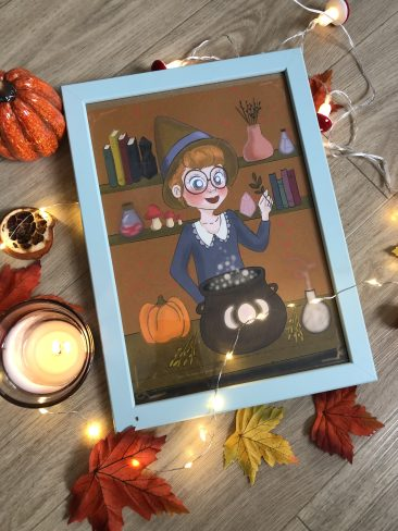 affiche print A4 potion magique automne 2021