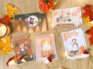 lot cartes collection automne