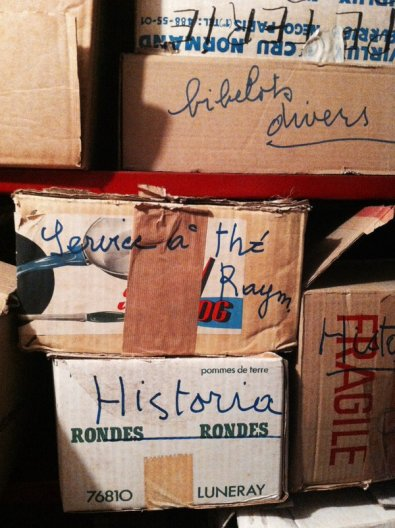 Boîtes organisées