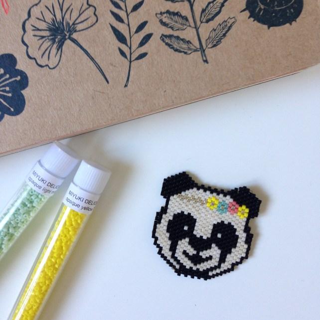 Grille (tuto) - Panda en perles miyuki