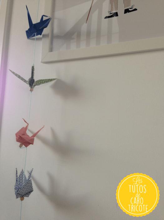 Tuto : guirlande de grues origami