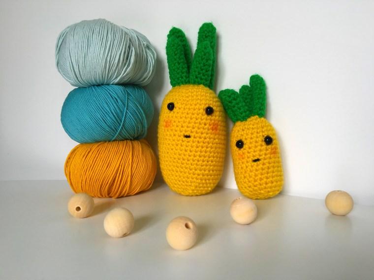 Tuto : Duo de doudous ananas au crochet