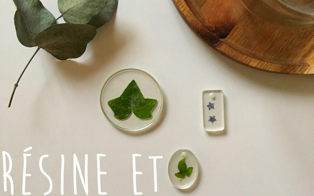 Tuto : Résine et végétal pour mettre du vert dans les bijoux et la déco