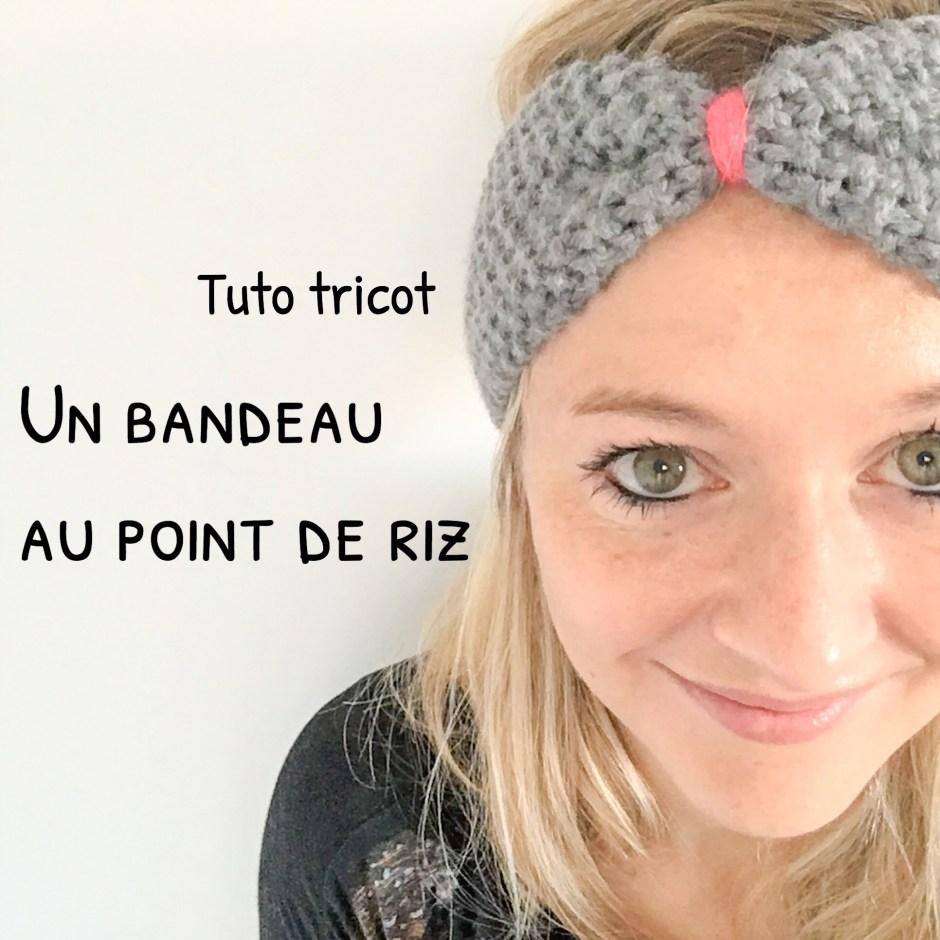 cb7f0aac4c27 Tuto   un headband ou bandeau tricoté au point de riz pour l hiver
