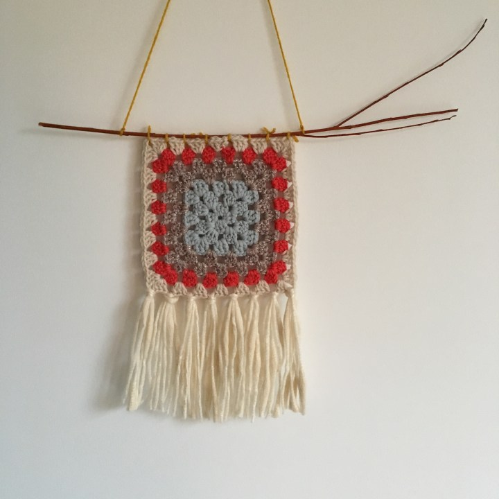 Tuto : créer un tissage à partir d'un carré granny au crochet