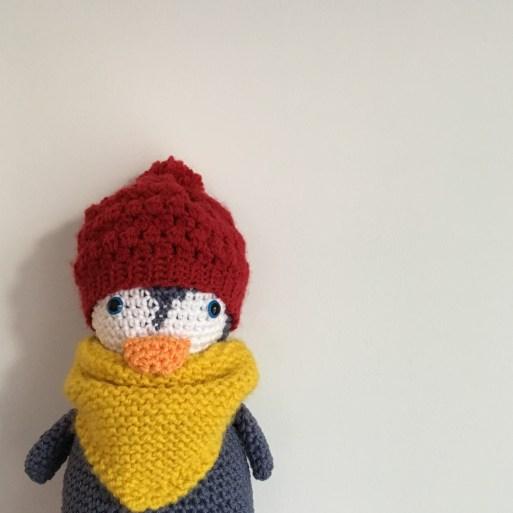 Crochet : un bonnet pour mon Pingouin