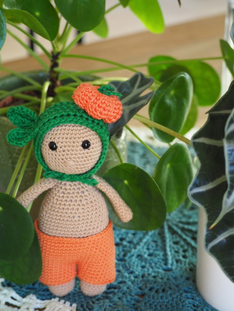 Tuto : Mon Petit Dodu et son chapeau citrouille au crochet