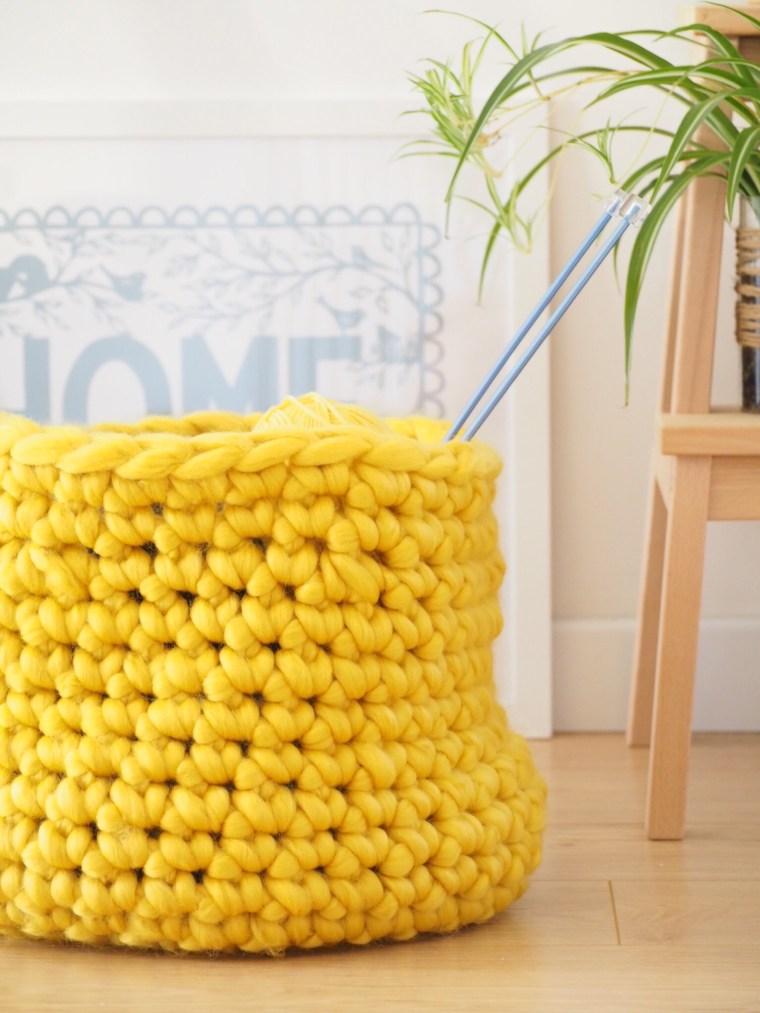 Tuto : Un panier géant au crochet - Avec la laine Waouh Wool de Bergère de France