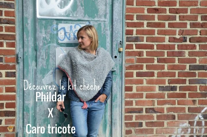 Découvrez le chèche Caro Tricote x Phildar et gagnez un kit à la fin de cet article