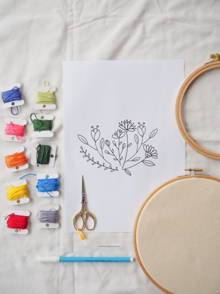 Tuto - Broderie florale