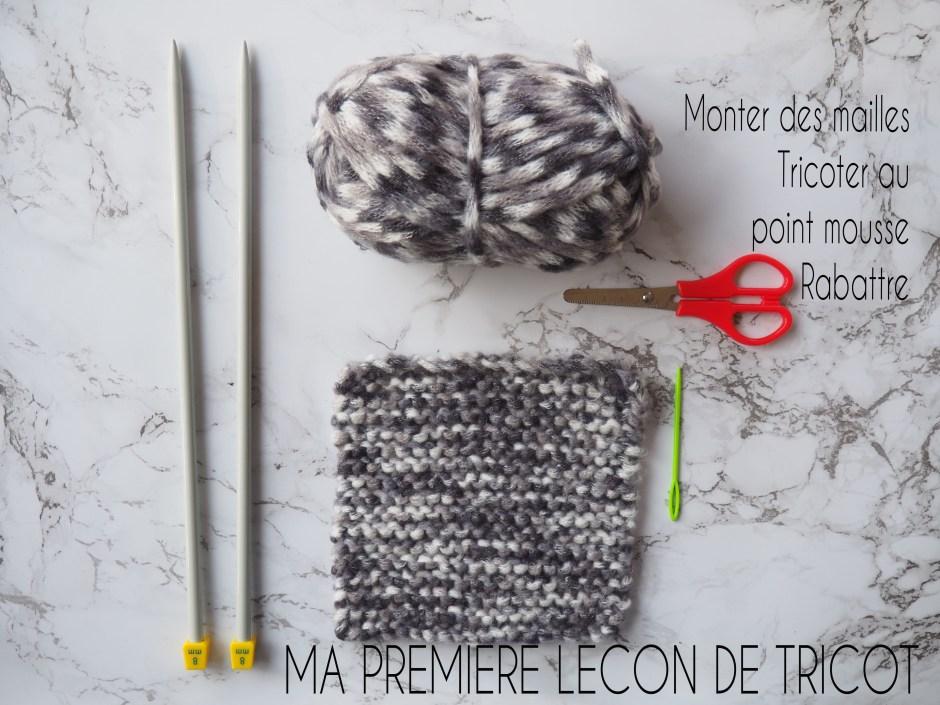 Ma premiere leçon de tricot - Monter des mailles, tricoter au point mousse, rabattre