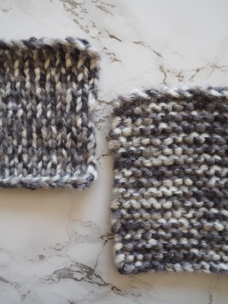 Apprendre la maille envers et le point jersey au tricot