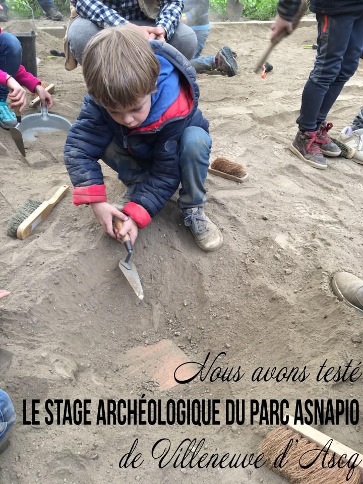 Nous avons testé le stage archéologie au Parc Asnapio de Villeneuve d'Ascq