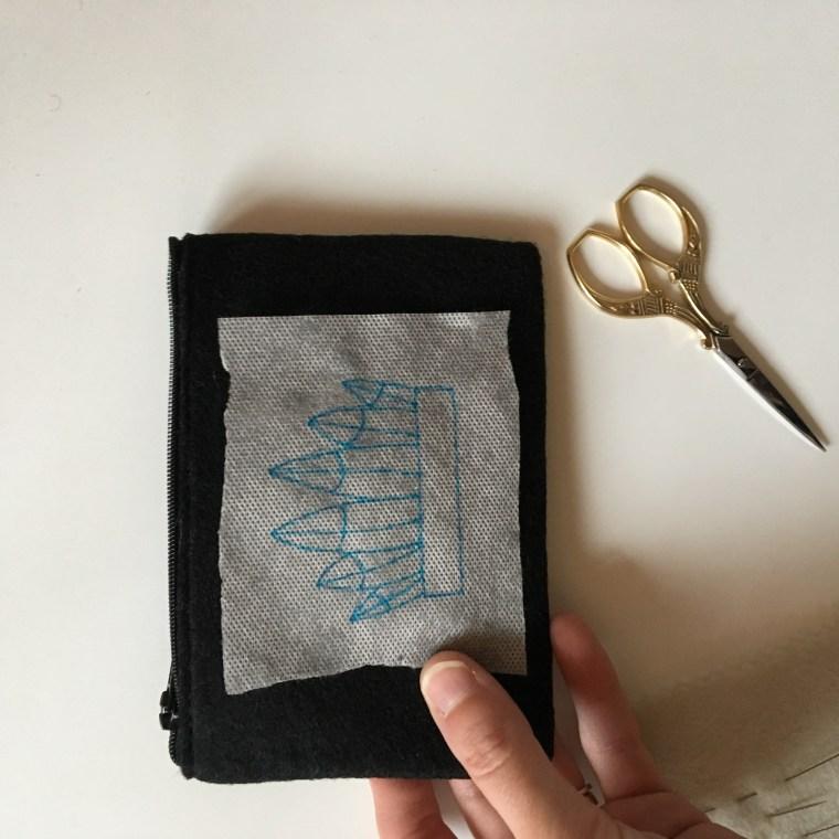Tuto : Porte monnaie brodé
