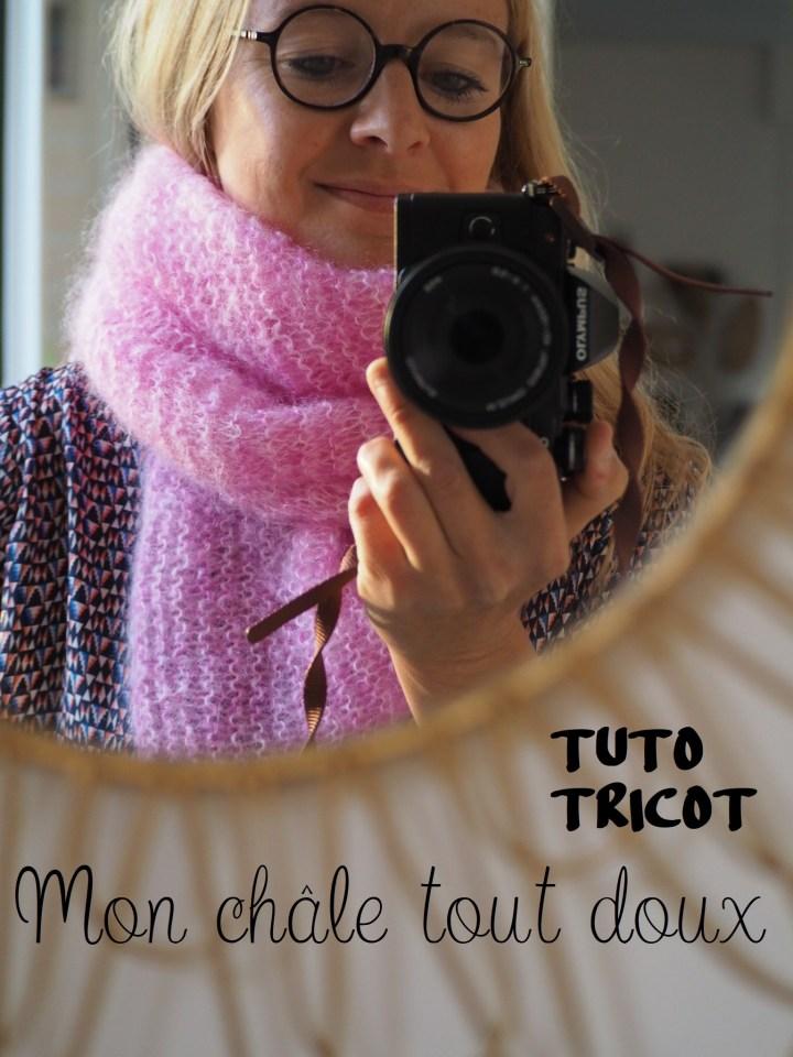 Un chèche tout doux tout doux – Tuto tricot réalisé en partenariat avec La légende du Mohair