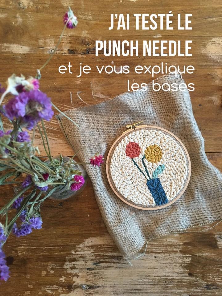 J'ai testé le punch needle – Explications pour vous lancer !