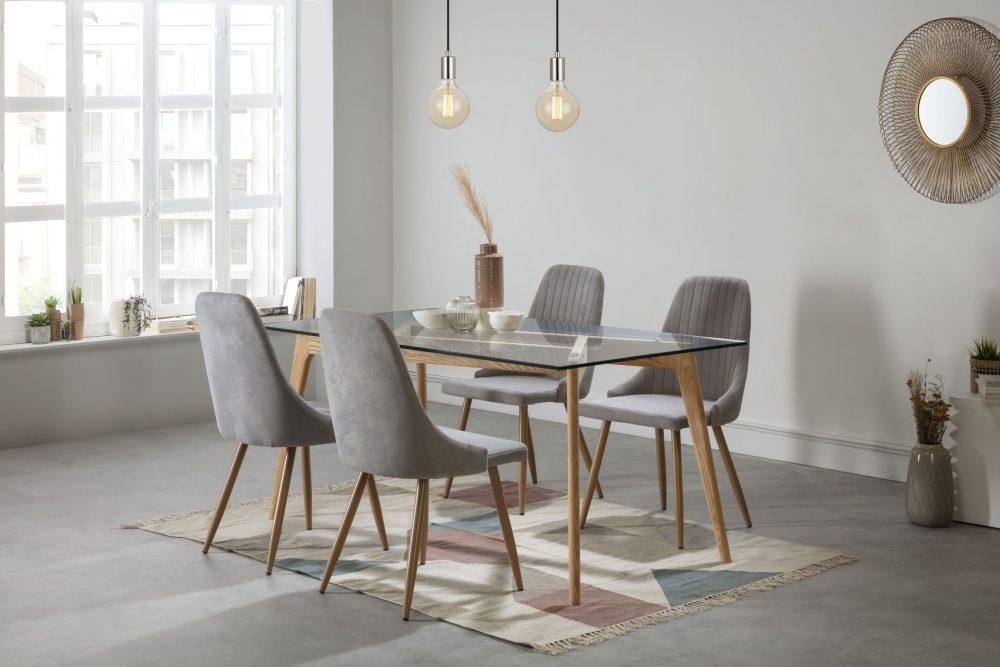 janis table à manger rectangulaire