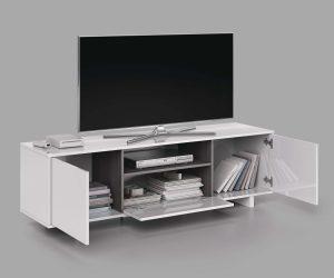 Zaira Meuble TV Blanc 150 cm Dansmamaison.ma Maroc 3