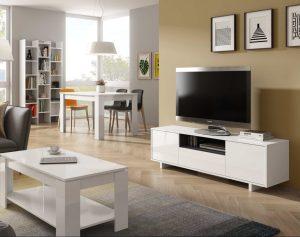 Zaira Meuble TV Blanc 150 cm Dansmamaison.ma Maroc 1