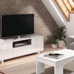 Zaira Meuble TV Blanc 150 cm Dansmamaison.ma Maroc