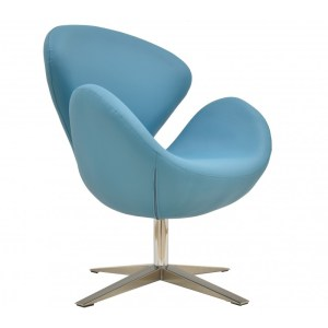 SW Fauteuil similicuir turquoise
