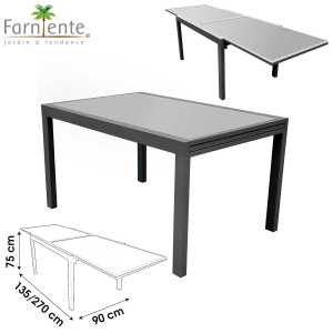 City table de jardin extensible