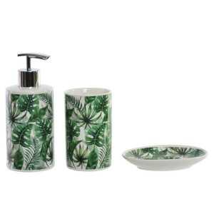 Set de salle de bain – feuilles vert