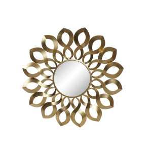 Miroir vagues doré en métal 92x4x92 cm