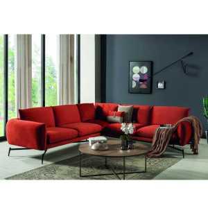 BOLD Canapé d'angle terracota 288 x 290 cm