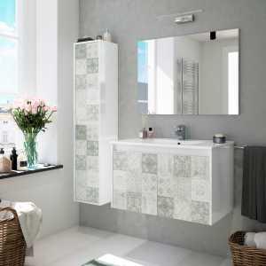 Due meuble de salle de bain suspendue avec colonne