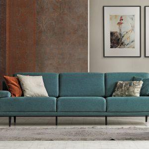 venedik canapé 4 places turquoise