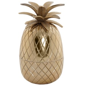 BOITE Ananas doré en aluminium 13x23.5 cm