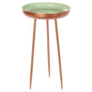 TABLE Auxiliare en métal vert 28.5x28.5x48.5 cm