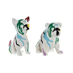 SET De 2 chiens en résine 20×12.5×17.5 cm