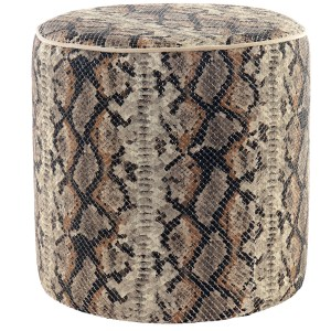 Serpent marron repose-pieds en polyester 40X40X40