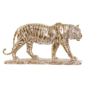 TIGRE Figure doré en résine 46x10x24.5 cm