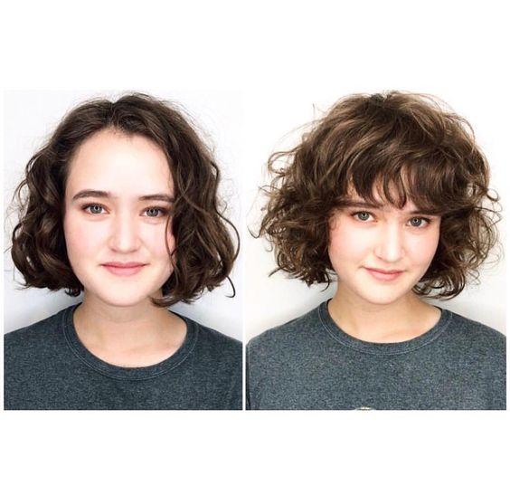 model rambut bob keriting wanita