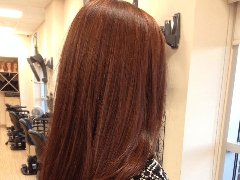 Rambut Coklat merah - red brown hair color