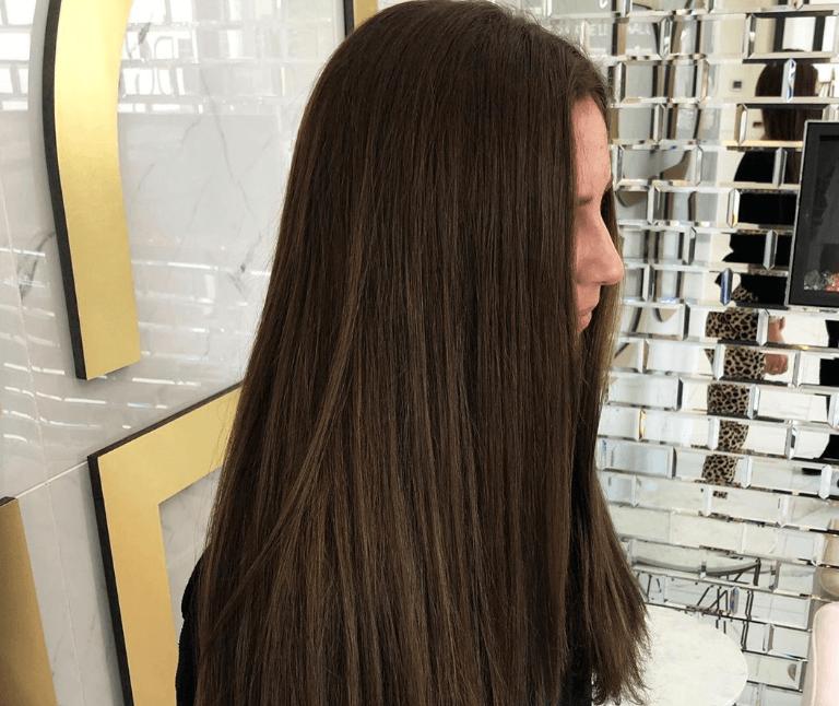 Warna rambut Dark brown mocha