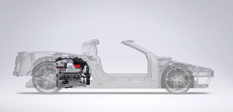 moteur arrière corvette