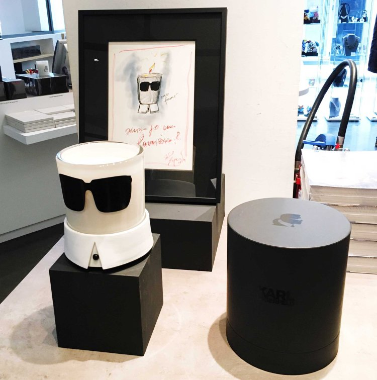 Bougie collector Exposition Karl Lagerfeld A visual Journey