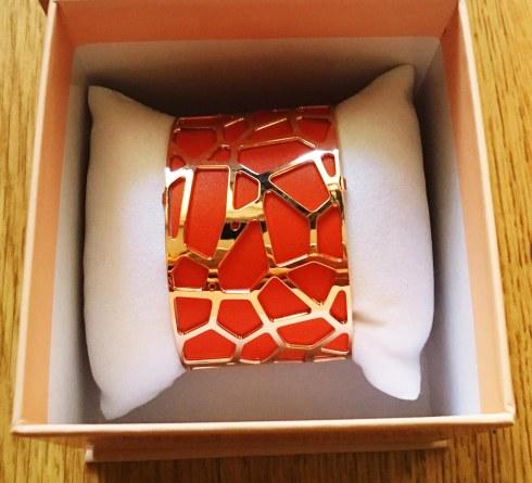 Bracelet manchette Les Georgettes orange Hermès
