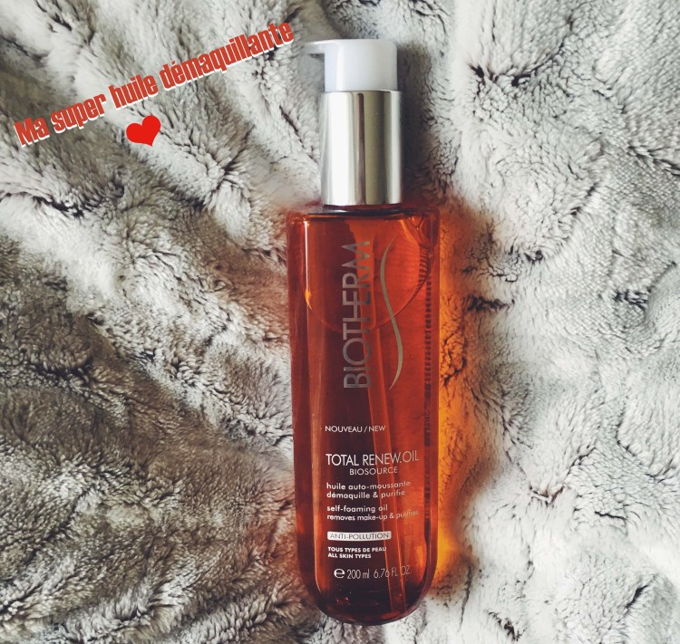 Biotherm Biosource Total Renew Oil et Biosource avis blog