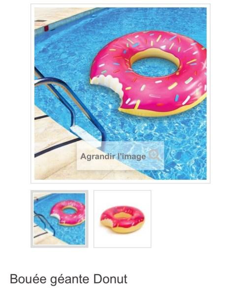 Bouée géante donuts rose piscine plage ou trouver france