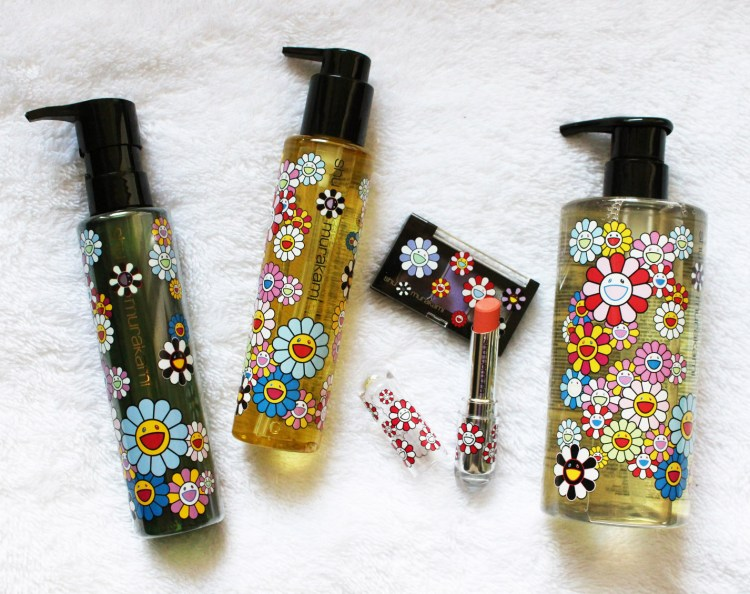 collection Shu Uemura X Murakami Cosmic Blossom avis blog brushing haircare soin des cheveux air blow huile capillaire shampooing maquillage rouge à lèvres oalette yeux