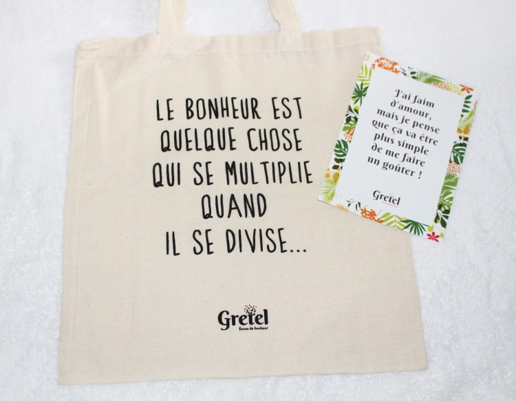 Gretel Box encas healthy aufeminin snacks avis blog tote bag