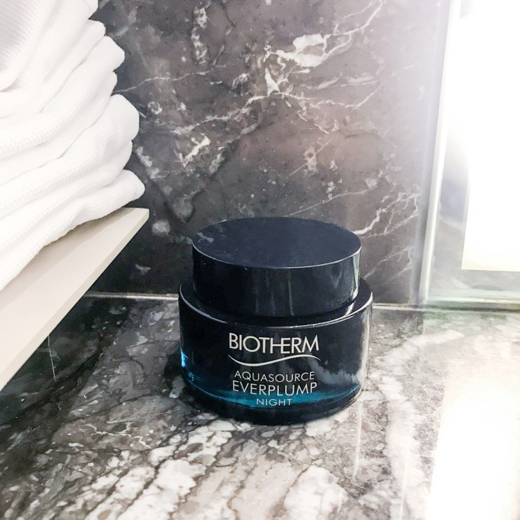 Aquasource Everplump Night nouveau masque de nuit Biotherm avis blog