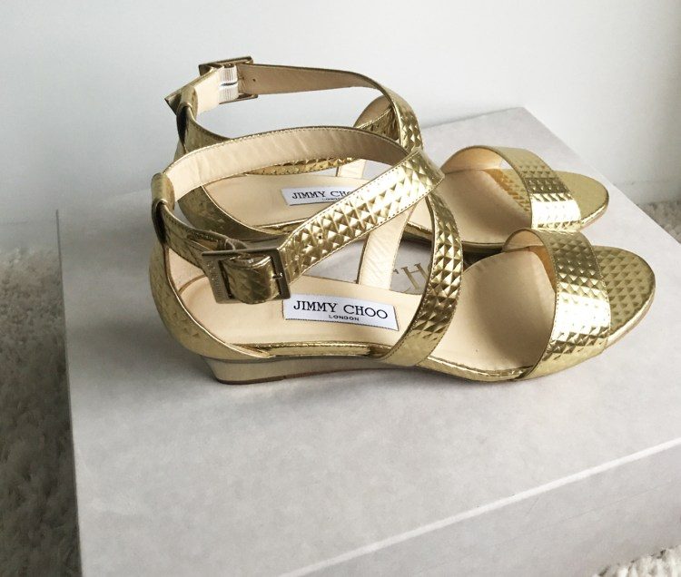 Vente Privée Arlettie Jimmy Choo chaussures Chiara dorée bon plan